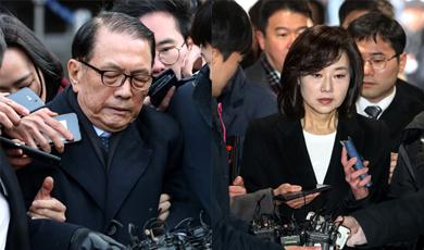 [수사] 김기춘·조윤선 영장심사…조윤선 구속땐 현역장관 최초 불명예