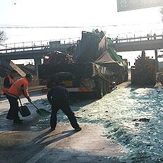 삼례IC 인근서 차량 3대 추돌