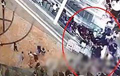 홍콩서 사고… 4층높이 <br>에스컬레이터 역주행
