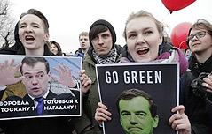 러시아 반정부 시위는 <br>`젊은세대의 반란`