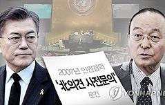 文측 `北인권결의안` <br>송민순 검찰 고발