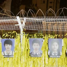 박영인군 사진 뒷편의 세월호