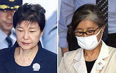 박근혜 前대통령 재판 <br>…최순실과 법정조우