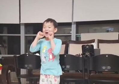 """송일국, 민국이 근황 공개 """"피카츄 노래 어디서 배웠니.."""