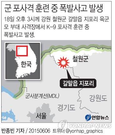 철원 軍 폭발사고 1명 사망·6명 부상