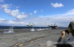 美 핵항모 레이건호 <br>수초만에 신속 이착륙