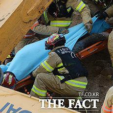 용인 붕괴 사고…매몰자 사망