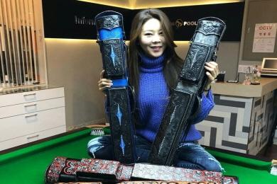 [당구용품]김가영아카데미, 명품 큐가방 '볼투리' 선보여