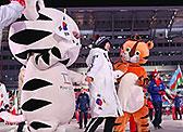 88올림픽 마스코트 호돌이, 수호랑과 입장
