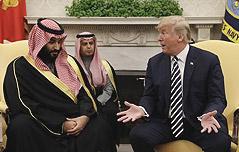 트럼프, 사우디 환대<br> 美 무기 지속구입 당부