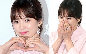 송혜교, 우아한 하트 미소