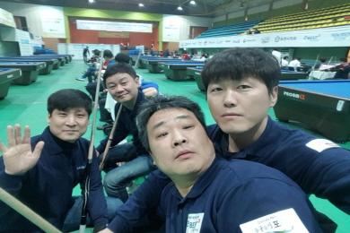 """3쿠션고수 4명 '팀 금광' """"어벤저스 같지않나요?"""""""