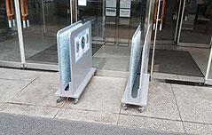 공공청사·지하철역<br> 비닐 우산커버 `퇴출`