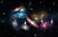 우주 끝에서 은하 14개 충돌 장면 포착
