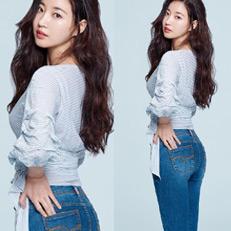 김사랑, 모델 뺨치는 청바지 핏