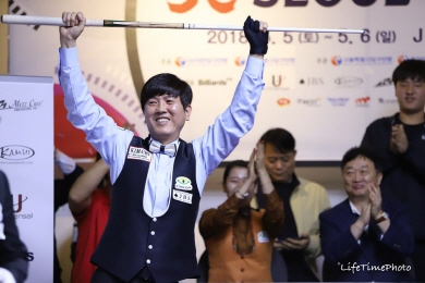 김재근, 10점차 역전승으로 제우스컵3쿠션 우승