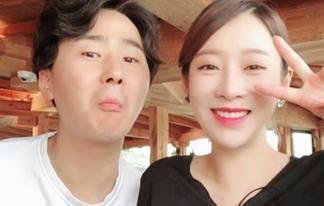 '임신 7개월' 안소미, <Br>남편과 달달 신혼 일상