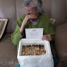 95세 할머니, 北송이버섯에 눈물
