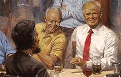 백악관에 걸린<br> 공화당 대통령 상상화