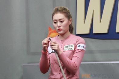 [女당구리그] 국내1위 김보미, 이미래에 완승