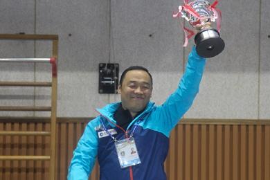 '인천당구 전국체전 우승'이끈 초보 이완수 감독