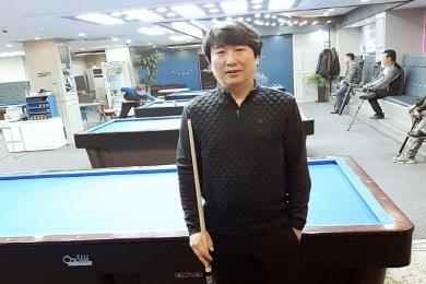 """'3쿠션 3위' 신남호 """"축하 플래카드 달아준답니다"""""""