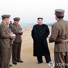 김정은, 첨단전술무기 실험 지도