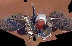 화성 안착 인사이트호<br> 완전한 모습 공개