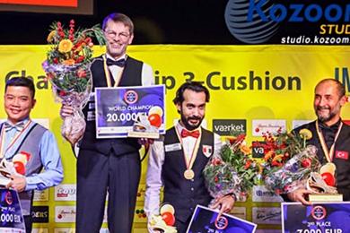 `당구황제 부활`  브롬달 세계3쿠션 우승  통산 7번째 정상