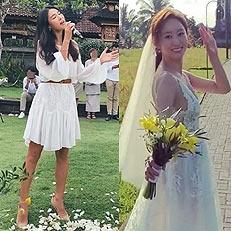 가희, 전혜빈 발리 결혼식 인증