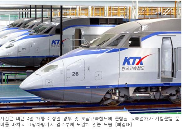 내달 초 개통 앞둔 호남 KTX, 마무리 작업 한창