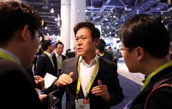 SK Telecom Co.'s president Park Jung-ho