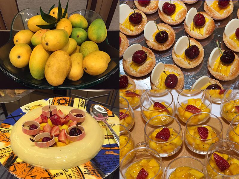 Diverse mango desserts