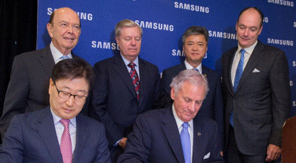 Samsung bringing $380 million plant, 954 jobs to Newberry County