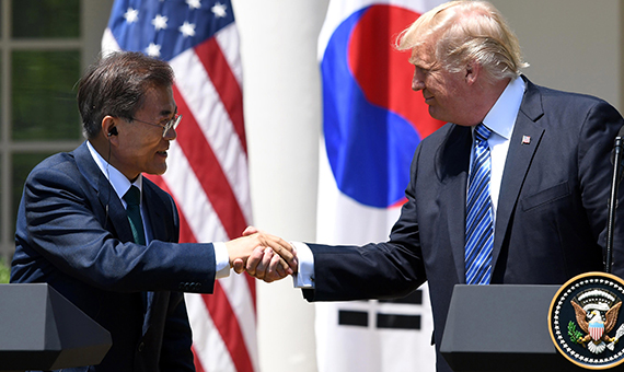 Trump seeks talks to overhaul South Korean trade deal