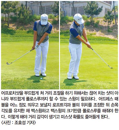 [톱골퍼 비밀노트] (120) 박효원의 어프로치샷 | 백스윙과 폴로스루는 1대1 비율이 기본