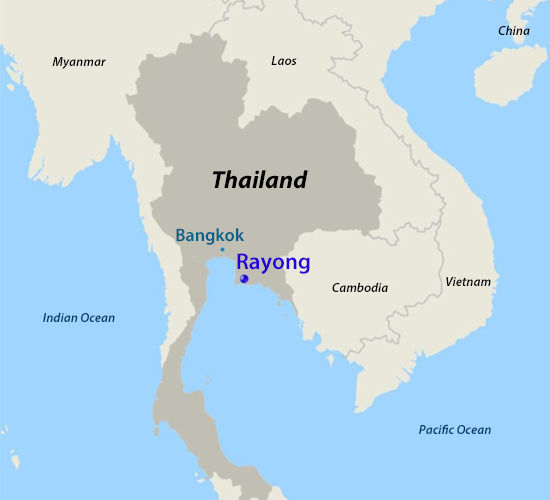 Location to be conducted the signed projects in Thailand
