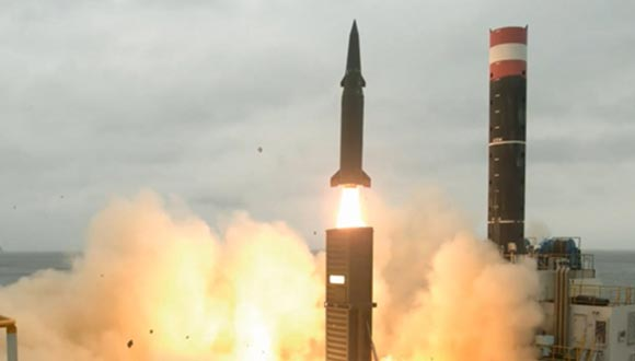 Test-firing of a 500-kilometer-range ballistic missile with improved warhead power and that of another one with a range of 800 km. The video clip was released by the state-run Agency for Defense Development, hours after North Korea