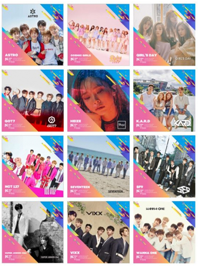 Artists to be on stage at KCON 2017 LA