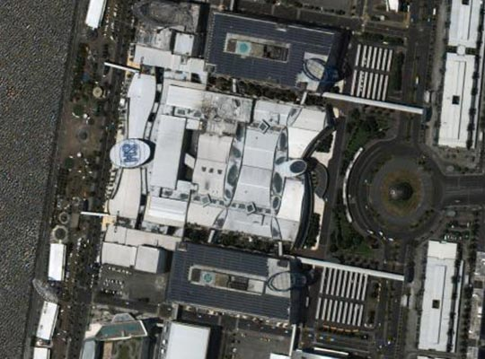 A satellite image of a shopping mall in Manila, the Philippines, taken by Korea Multi-Purpose Satellite-3A. [Photo provided by the Ministry of Science and ICT and Korea Aerospace Research Institute]