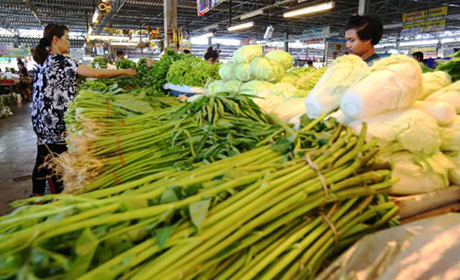 Rising prices for vegetables triggered some of the inflation rise in April.