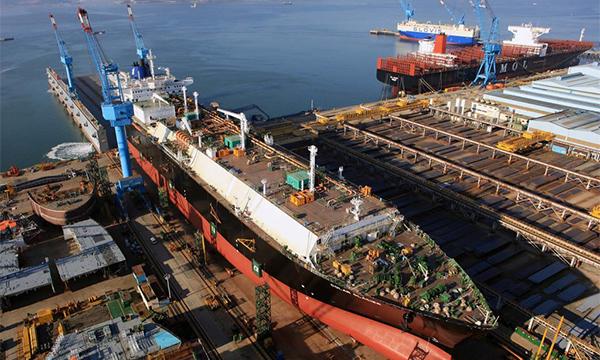 Hyundai Samho Heavy Industries`s LNG carrier.