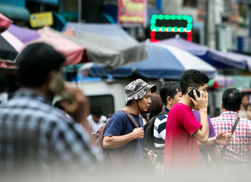 Interest in the Myanmar telecommunications sector is mounting in tandem with mobile phone penetration. [Phoe Wa/The Myanmar TImes]