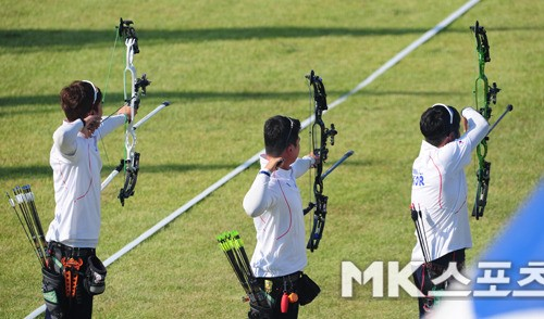 한국 양궁 남자 대표팀, 컴파운드 단체전서 금메달
