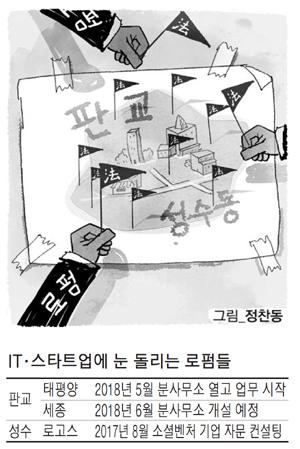 """대형로펌, 판교·성수行 러시…""""스타트업 둥지서 미리 스킨십"""""""