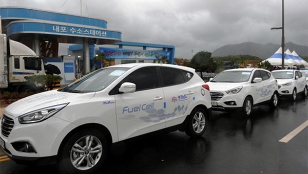 A charging station for hydrogen-fueled vehicles in Naepo New City, South Chungcheong Province. [Photo provided by Chungnam Provincial Government]