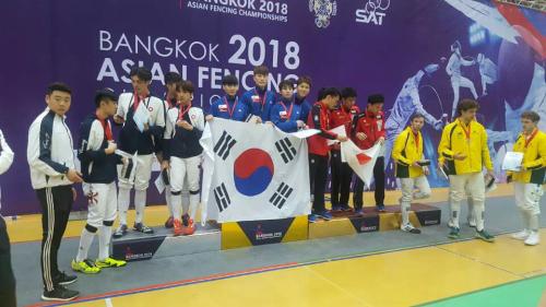 한국, 亞펜싱선수권 男 플뢰레 단체전 우승