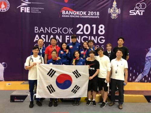 한국 펜싱대표팀, 亞선수권 쯤이야…10연패