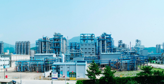 PolyMirae Company`s polypropylene plant in Ulsan. [Photo provided by PolyMirae]