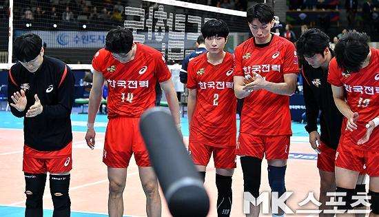 한국전력, 결국 16연패…빛바랜 국내 선수들의 고군분투